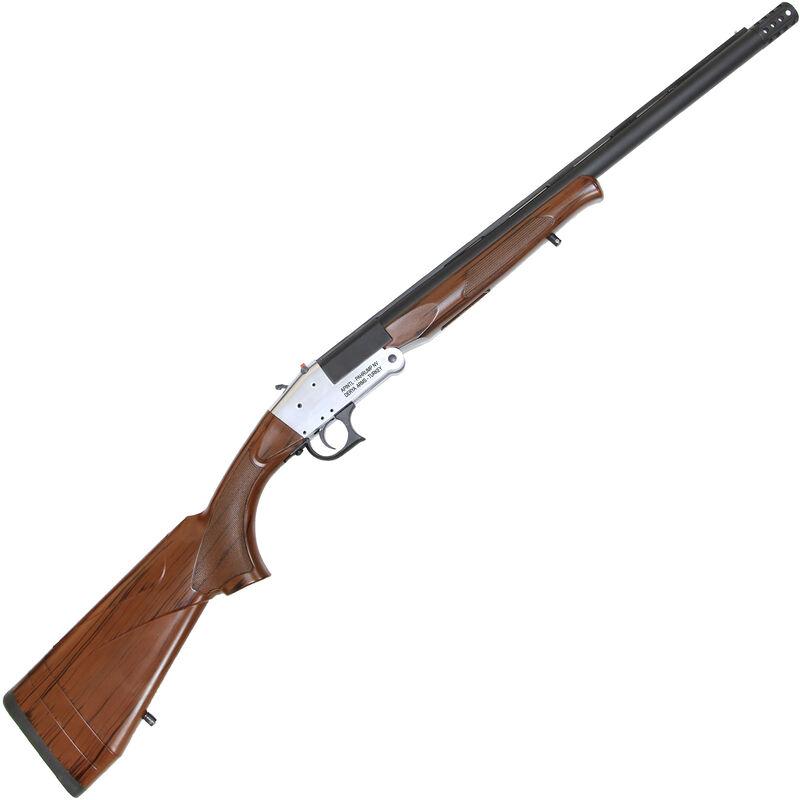 "RIA Imports Traditional Single Shot 12 Gauge Break Action Shotgun 20"" Barrel 1 Round 3"" Chamber Muzzle Break Wood Grain Polymer Stock Silver/Blued Finish"