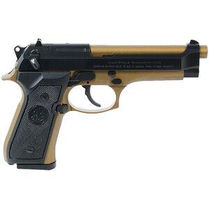 """Beretta 92FS 9mm Luger Semi Auto Pistol 4.9"""" Barrel 10 Rounds Two Tone Blued/Bronze Finish"""