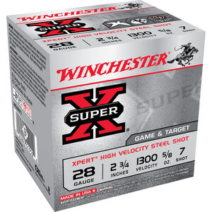 "Winchester Xpert 28 ga 2-3/4"" #7 Steel 5/8oz 25 Round Box"