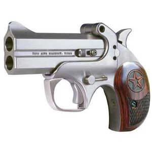 "Bond Arms Century 2000 .357 Magnum 3"" Barrel 2 Rounds Break Action Stainless Steel Rosewood Grips Brushed Stainless Finished C2K357"