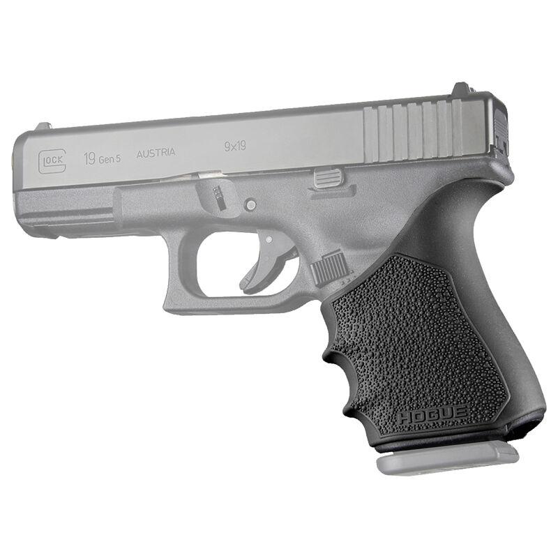Hogue HandAll Beavertail Grip Sleeve Fits Glock 19/23/32/38 Gen 3-4 Black