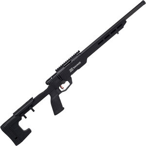 """Savage B17 Precision .17 HMR Bolt Action Rimfire Rifle 18"""" Heavy Threaded Barrel 10 Rounds with Picatinny Rail Aluminum MDT Chassis Black Finish"""