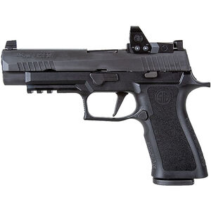 """SIG Sauer P320 RXP XFull-Size 9mm Luger Semi Auto Pistol 4.7"""" Barrel 17 Rounds Night Sites ROMEO1 Reflex Optic XCarry Polymer Grip Module Black"""