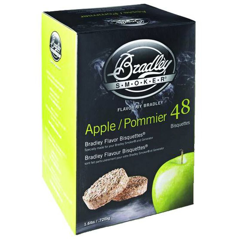 Bradley Smoker Bisquettes Apple 48 Pack BTAP48