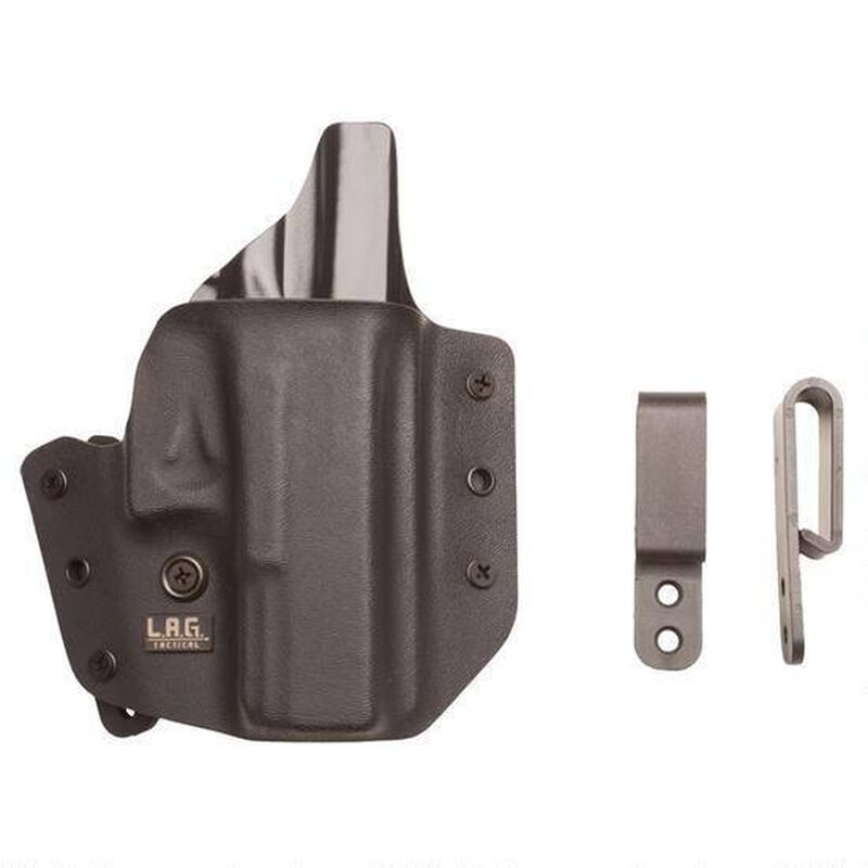 L.A.G. Tactical Defender Series OWB/IWB Holster Ruger LC9/LC380 Right Hand Kydex Black