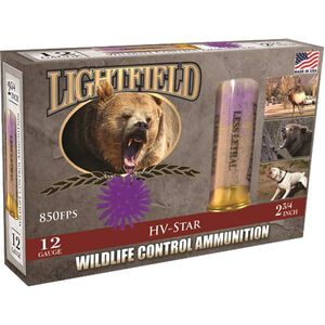 "Lightfield Wildlife Control 12-Gauge Ammunition, 2-3/4"", HV-Star PVC, 5 Rounds"