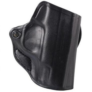 DeSantis Mini Scabbard Belt Slide Holster fits Springfield Hellcat Right Hand Leather Black