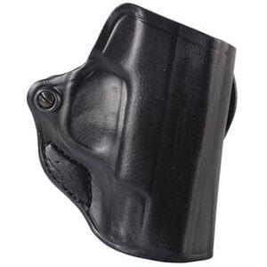 DeSantis Mini Scabbard Belt Slide Holster fits Springfield Hellcat Right Hand Leather Black