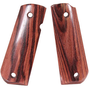 Hogue 1911 Government Model Round Heel Ambidextrous Safety Cut Smooth Kingwood