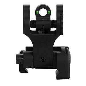 Troy Industries Tritium Rear Folding Battle Sight Aluminum Black SSIG-FBS-RTBT-00