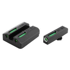 TRUGLO Tritium Pro Sig Sauer #6 Front/#8 Rear Night Sight Set Green Tritium 3-Dot Configuration Front White Focus Lock Ring Steel Black