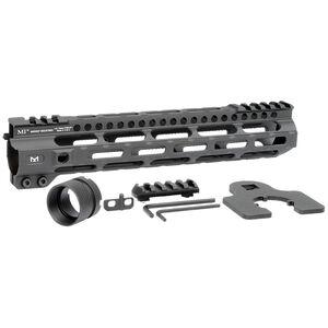 "Midwest Industries AR-15 Combat Lightweight 10.50"" One Piece Free Float M-LOK Hand Guard 6061 Aluminum Hard Coat Anodized Matte Black"