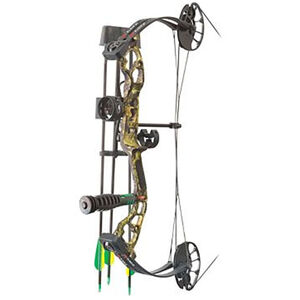 """PSE Mini Burner Youth Bow Kit 16""""-26.5"""" Draw Length 40# Draw Weight Right Hand Mossy Oak Break Up Country"""