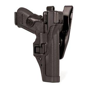 BLACKHAWK! SERPA Level 3 Duty Belt Holster Glock 17/19/22/23 Right Hand Matte  Black 44H100BK-R