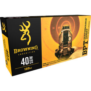 Browning BPT .40 S&W Ammunition 500 Rounds FMJ 180 Grains 191800401