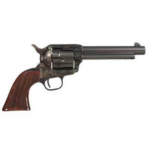 "Taylor Gambler Single Action Revolver .45 LC 5.5"" Barrel 6 Rounds Checkered Walnut Grips Case Hardened Frame Blued Finish 555130"