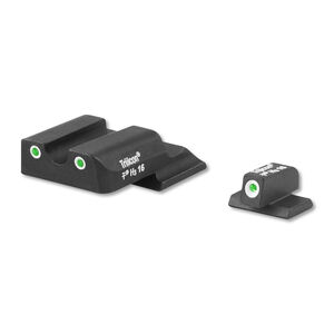 AmeriGlo S&W Shield Classic 3 Dot Tritium Night Sights Green with White Outlines Steel Black SW-145
