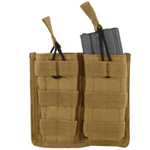 Voodoo Tactical  MOLLE Open Top Double AR-15 Magazine Pouch Nylon Coyote Tan 20-8585007000
