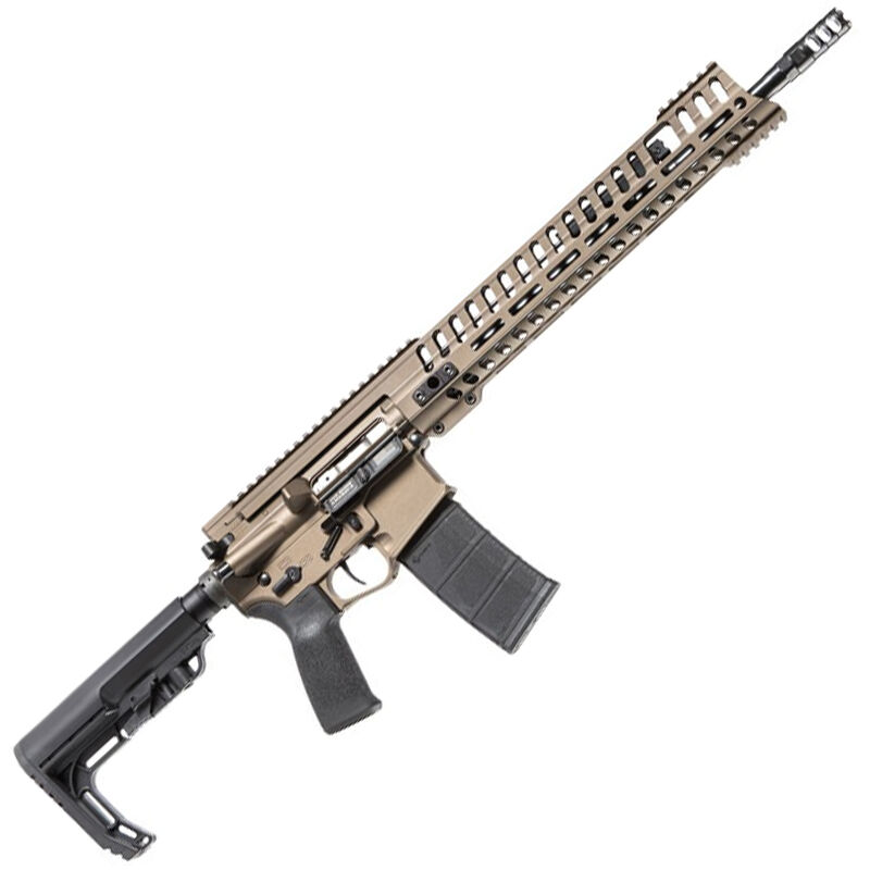 "POF USA P415 Edge Semi Auto Rifle .223 Rem/5.56 NATO 16.5"" Barrel 30 Rounds Short Stroke Gas Piston System 14.5"" M-LOK Rail Cerakote Burnt Bronze Finish"