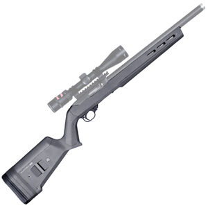 "Magpul Hunter X-22 Stock for Ruger 10/22 .22 LR 0.920"" Diameter Barrels Uses 10/22 Magazines M-LOK Slots Adjustable LOP Polymer Stealth Gray MAG548-GRY"