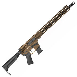 "CMMG Resolute 300 Mk57 5.7x28 AR-15 Semi Auto Rifle 16.1"" Barrel 20 Rounds   RML15 M-LOK Free Float Hand Guard Cerakote Midnight Bronze"
