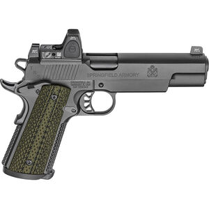 "Springfield Armory 1911 TRP with RMR 10mm Auto Semi Auto Pistol 5"" Barrel 8 Rounds Night Sites with Trijicon RMR Steel Frame G10 Grips Black Finish"