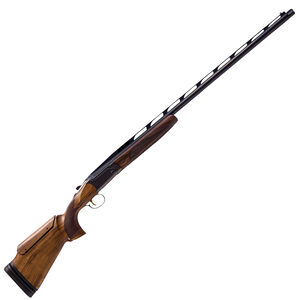 "CZ USA All American Single Trap 12 Gauge Shotgun 30"" Ported Barrel 3"" Chamber 1 Round Raised Steel Rib Turkish Walnut Stock with Adjustable Comb/Butt Gloss Blue"