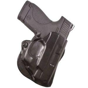 DeSantis Mini Scabbard Belt Holster S&W M&P Shield With CTC Laserguard Right Hand Leather Black 019BAH9Z0