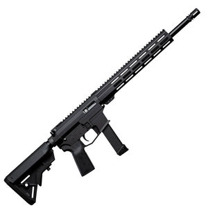 """Angstadt Arms UDP-9 AR Style Semi Auto Rifle 9mm Luger 16"""" Barrel 15 Rounds Free Float M-LOK Hand Guard carbine Stock Black"""