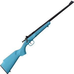 "Keystone Arms Crickett Single Shot Bolt Action Rimfire Rifle .22 LR 16.125"" Barrel Beach Blue Polymer Stock Blued Barrel"