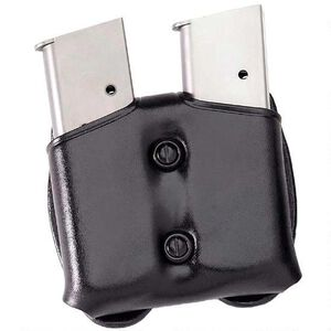 Galco Gunleather C.D.M. Cop Double Magazine Case 9mm & .40 S&W Double Stack Magazines Leather Black