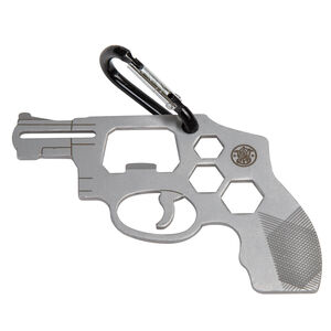 Smith & Wesson Revolver Novelty Multi-Tool Carabiner Attachment Stainless Steel
