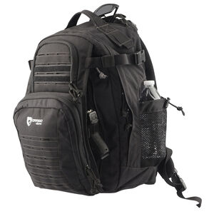 Drago Gear Defender Backpack 17.5x14.5x11.25 Dual Beverage Holder AR Magazine Pouches Matte Black Finish