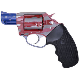 """Charter Arms Old Glory Revolver .38 Special 2"""" Barrel 5 Rounds Black Rubber Grips Red/White/Blue 23872"""