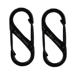 Nite Ize S-Biner Size #1 Black 2 Pack SB1-2PK-01