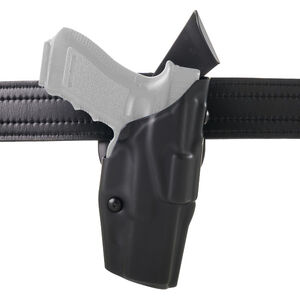 Safariland 6390 ALS Mid-Ride Duty Holster Fits GLOCK 19/45/26 Synthetic Leather Plain Black