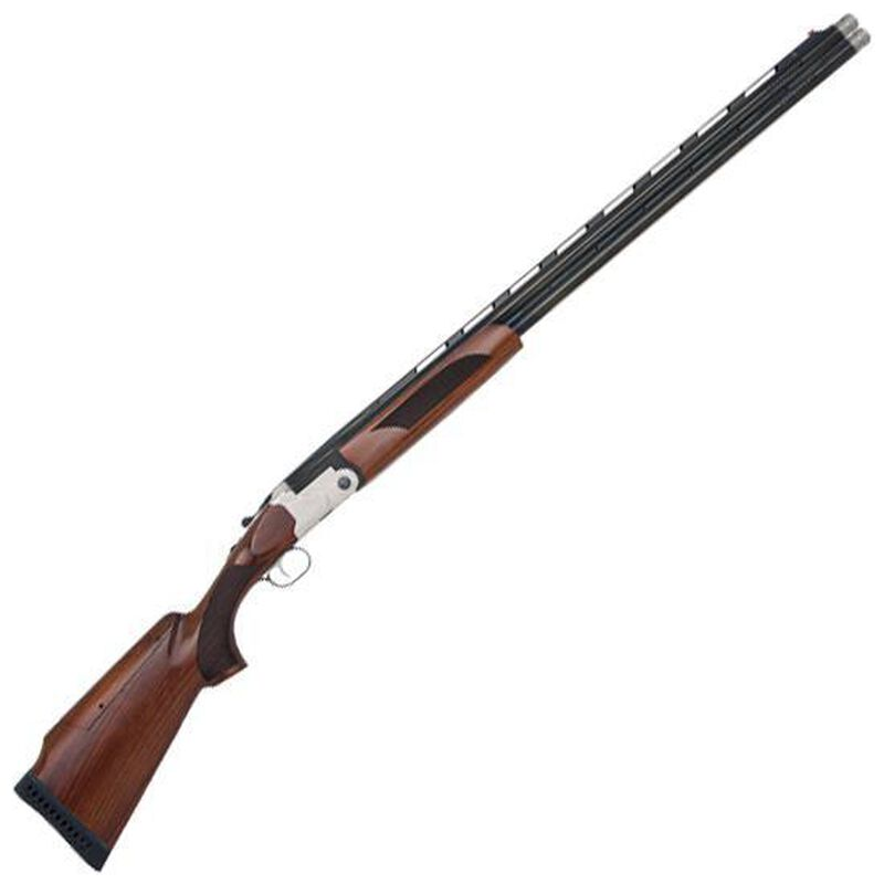"""Mossberg Silver Reserve II Super Sport 12 Gauge O/U Break Action Shotgun 30"""" Ported Barrels 3"""" Chambers 2 Rounds FO Front Sight Shell Ejectors Walnut Stock Scroll Engraving Silver/Blued Finish"""
