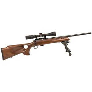 "Keystone 722 Varmint Bolt Action Rimfire Rifle .22 LR 20"" Barrel Target Chamber 7 Rounds Walnut Stock Blued KSA20030"