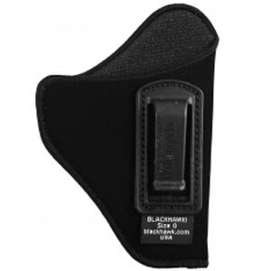 "BLACKHAWK! Inside the Pant Holster for 2"" to 3"" Barrel Small and Medium Frame Double Action Revolvers, Right Hand, Belt Clip, Black"