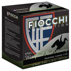 "Fiocchi Shooting Dynamics Waterfowl Steel Hunting 12 Gauge Ammunition 3"" #6 1-1/8oz Steel Shot 1500 fps"