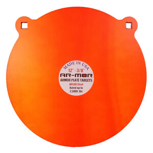 "AR-Mor 12"" AR500 Steel Gong Target 1/2"" Orange"