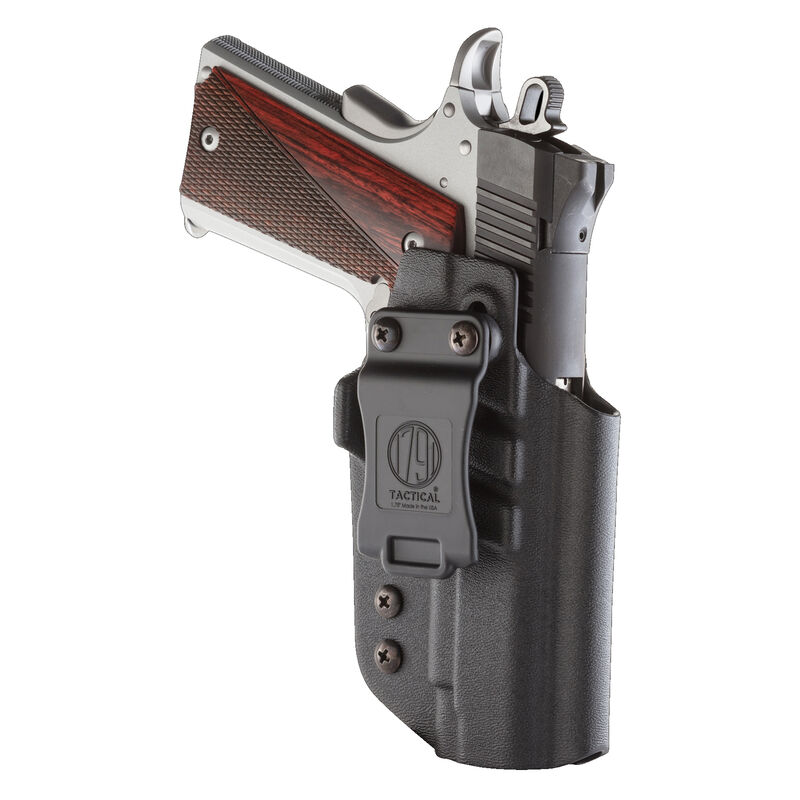 1791 Gunleather Tactical Kydex Multi-Fit IWB Holster for Government 1911 Semi Auto Pistols Right Hand Draw Kydex Black