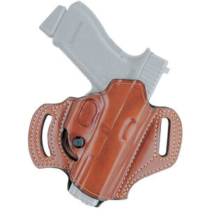 Aker Leather 168A FlatSider Slide XR13 SIG Sauer P320 FS Belt Holster Right Hand Leather Plain Tan H168ATPRU-SS320