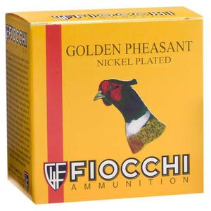 "Fiocchi Golden Pheasant 28 Gauge Ammunition 250 Rounds 2-3/4"" #5 Shot 7/8oz Nickel Plated Lead 1300fps"