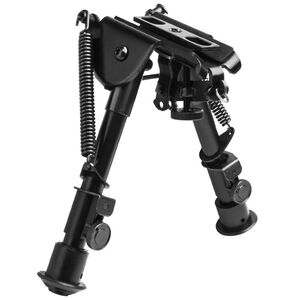 "NcSTAR Precision Grade Bipod 5.5"" to 8"" Adjustment 3 Adaptors Aluminum Black Powder Coated Finish"