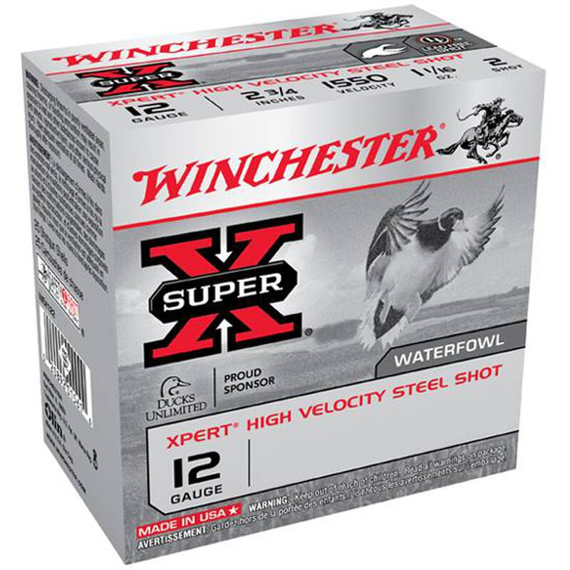 "Winchester Xpert Hi-Velocity Steel 12 Gauge Ammunition 250 Rounds 3"" #3 Steel Shot 1-1/8 Ounce 1550fps"