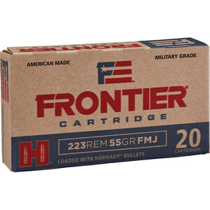 Hornady Frontier .223 Remington Ammunition 55 Grain FMJ 3240 fps