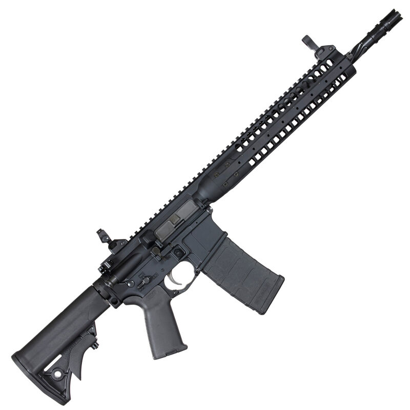 "LWRC IC-SPR AR-15 5.56 NATO Semi Auto Rifle 16"" Spiral Fluted Barrel 30 Rounds LWRC Compact Stock/Modular Rail System Matte Black"