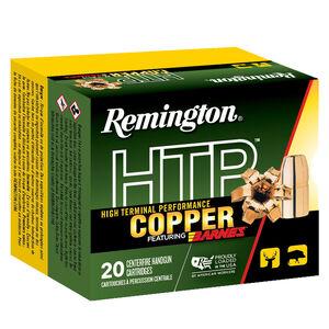 Remington HTP Copper 10mm Auto Ammunition 20 Rounds 155 Grain Barnes XPB Copper Hollow Point 1150fps