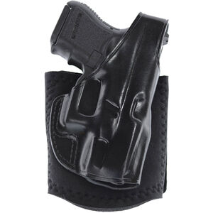 """Ankle Glove Holster 2"""" Revolvers Right Hand Leather Black"""